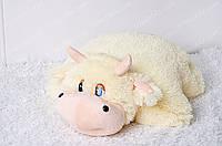 Игрушка подушка трансформер Корова маленькая 36х38 см
