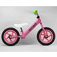 Беговел PROFI KIDS детский 12 дюймов M 3440A-2 (1шт) колеса резина.пласт.обод,розовый