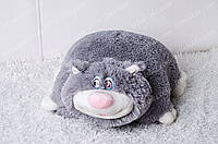 Игрушка подушка трансформер Кот Жора 45см серый