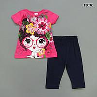 Летний костюм для девочки. Маломерит.  110 см, фото 1
