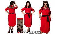 Платье рубашка большого размера 48-54 разные цвета