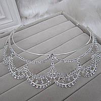 Свадебная диадема корона тиара СИЦИЛИЯ для волос