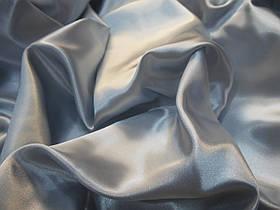 Атлас сатин серый (серебро)