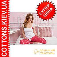 Пижама с розовыми штанишками в горошек Miss clear