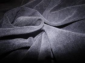 Вельвет костюмный темно-синий