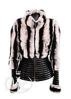 Куртка кожаная с мехом под шиншиллу, фото 1