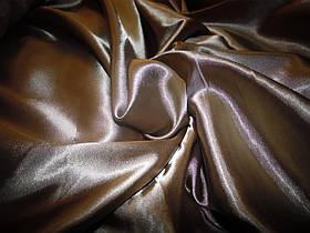 Стрейч атлас коричневый