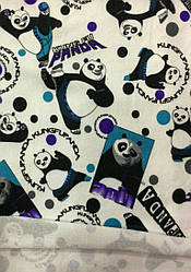 Ангора (без начеса)  панда голубой