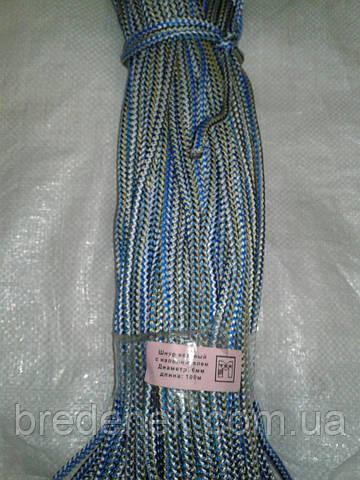 Шнур плетеный с наполнителем диаметр 6 длина 100 м