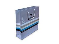 Бумажный пакет с логотипом из мелованной бумаги 310х310х120