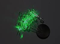 Светодиод, супер яркий, зелёный, 4,8 мм, 100 шт.