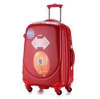 Ударопрочный пластиковый большой чемодан Ambassador A8503 Красный