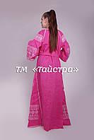 Платье в пол лен вышитое, бохо, этно, стиль Вита Кин, вишите плаття вишиванка, Bohemian