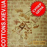 Плед Цветы на кирпичной стене акриловый (Gold Excell) двухспальный