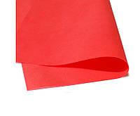 Фоамиран Зефирный Красный  50х50 см, 1 мм Китай