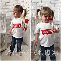 """Детская красивая футболка """"Levis"""" (2 цвета)"""