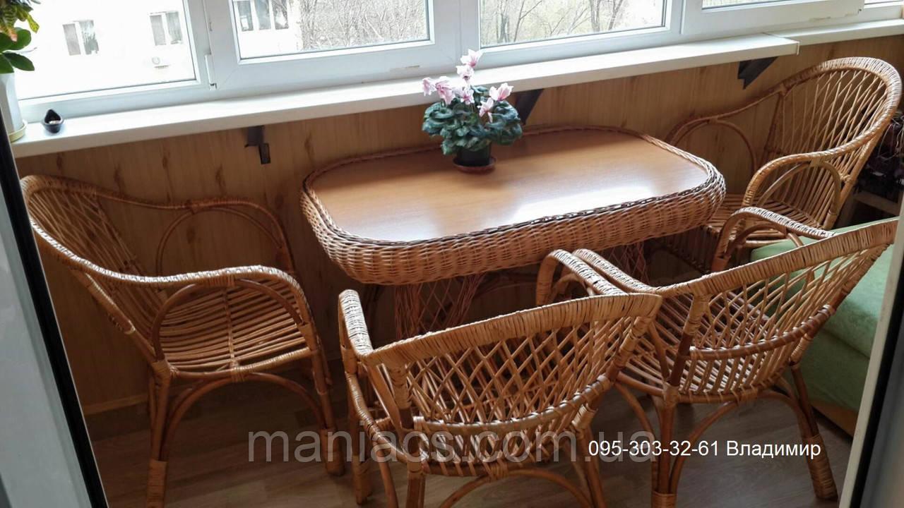Красивое кресло из лозы