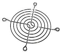 Решетка вентилятора 92х92мм, метал. никелированная