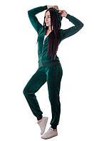 Женский велюровый спортивный костюм стильный