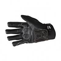 Летние кожаные мотоперчатки EVS Assen черного цвета размер S,M,XL,XXL
