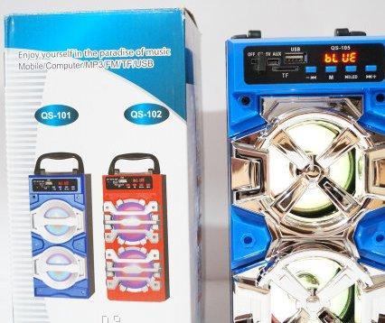 Портативная Bluetooth колонка QS-101 с LED