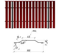 Евроштакетник односторонний 0,45 мм мат Китай