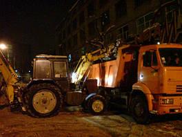 Круглосуточная уборка снега - погрузка и вывоз снега в Киеве