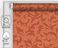 """Тканинні рулонні штори """"DecoLUX"""" акант (червона охра), РОЗМІР 100х170 см, фото 1"""