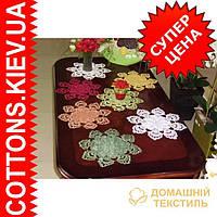 Ажурная салфетка зеленого цвета 30*30