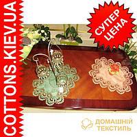 Кружевная однотонная салфетка 30*45 зеленого цвета