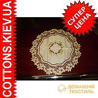 Салфетка  круглая веточка 60*60 RD GR-09HF121-1
