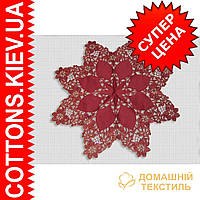 Столешница новогодняя бордовая звезда(85*85)