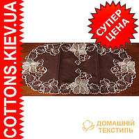 Салфетка  коричневая с вышивкой 40*85GR-55C2121