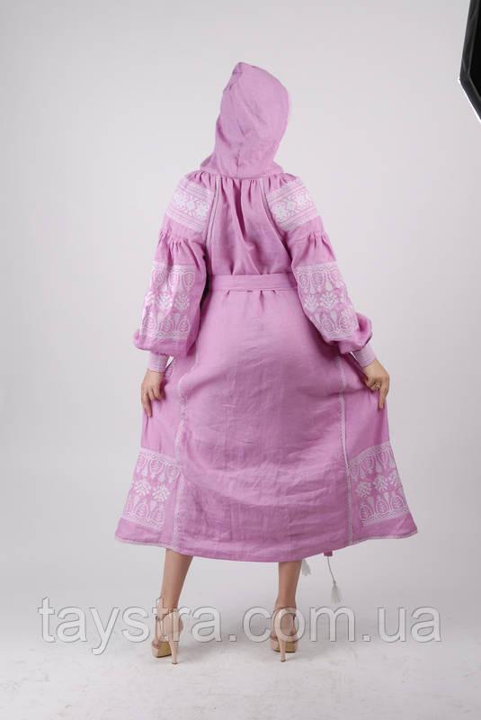 Платье с капюшоном  вышитое бохо вышиванка лен, этно, бохо шик, вишите плаття вишиванка, Bohemian