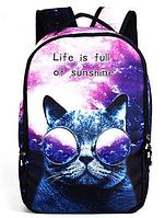 Прикольный городской рюкзак галактический кот 21 л URBANSTYLE 192