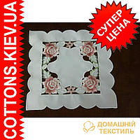 Салфетка ажурная квадратная  30*30 с розами