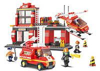 Конструктор SLUBAN M38-B0225 ПОЖАРНЫЕ - Пожарные спасатели (371 дет.)