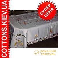 Скатерть пасхальная на роздвижной стол160*240 Птички  CR-10HF8030