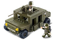 Конструктор SLUBAN M38-B0297 АРМИЯ - Хаммер с пулеметом (175 дет.), фото 1