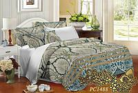 Комплект постельного белья 3D поликоттон ТМ Sveline Tekstil (Украина) двуспальный PC1488