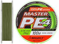 Шнур Select Master PE 150m (салат.) 0.18мм 21кг