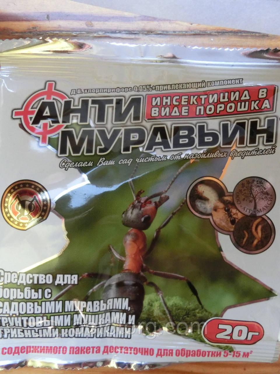 От муравьев Антимуравьин от садовых муравьев