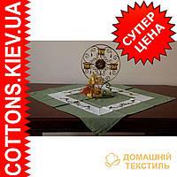 Новогодняя зеленая столешница 85*85 производитель Украина