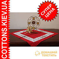 Новогодняя красная  столешница 85*85 производитель Украина