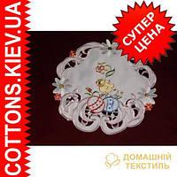Салфетка круглая пасхальная  30*30 RDGR-10HF8521PASHA