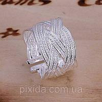Кольцо Плетение 925 серебро проба