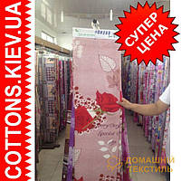 Ткань рулонами и отрезами для постельного белья и пошива одеял  (Роза love)