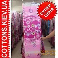 Ткань рулонами и отрезами для постельного белья и пошива одеял  (Ромашки на розовом)