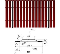 Евроштакетник двухсторонний 0,4 мм полиэстер Printech Китай