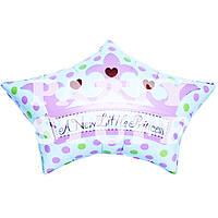 Шар фольгированный Новорожденная Принцесса, 40 см